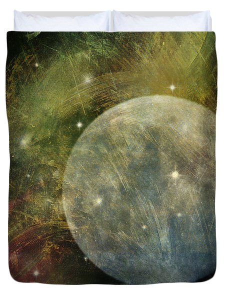 Abstract Moon Duvet Cover by Billie-Jo Miller