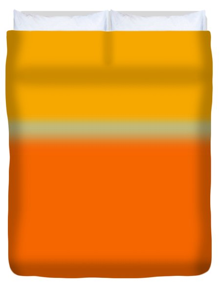 Abstract Orange And Yellow Duvet Cover by Naxart Studio