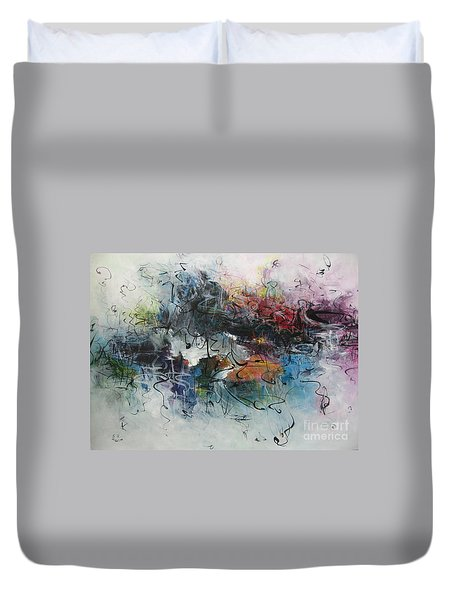 Abstract Seascape00117 Duvet Cover by Seon-Jeong Kim