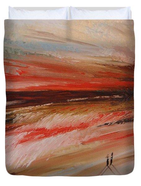 Abstract Sunset II Duvet Cover by Tatjana Popovska