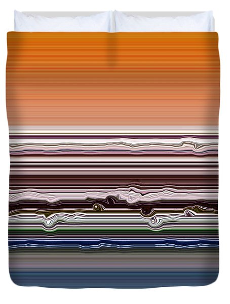Abstract Sunset Duvet Cover by Michelle Calkins