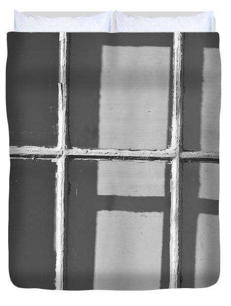 Abstract Window In Light And Shadow Duvet Cover