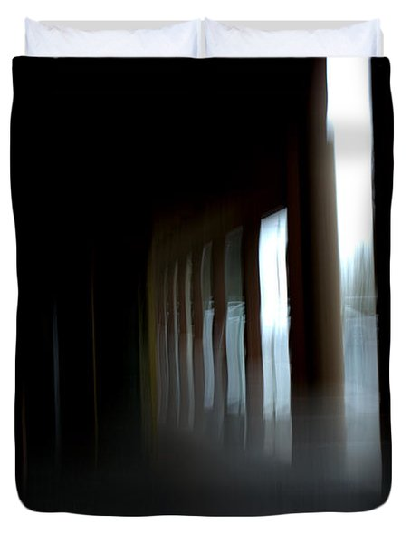 Duvet Cover featuring the mixed media Abyss by Terence Morrissey