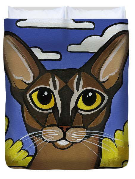 Abyssinian  Duvet Cover by Leanne Wilkes