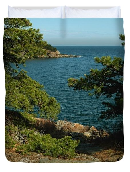 Acadia In Maine Duvet Cover by Rick Frost