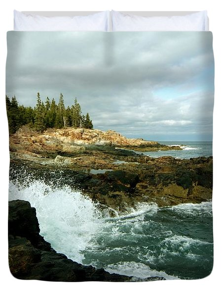 Acadia On The Shore Duvet Cover by Rick Frost