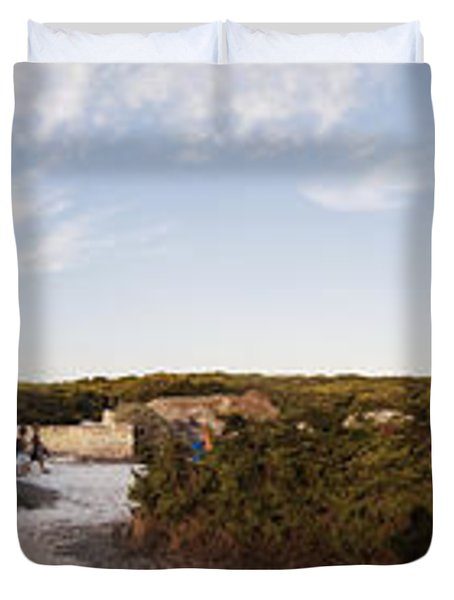 Access To The Beach Of Es Trenc Duvet Cover