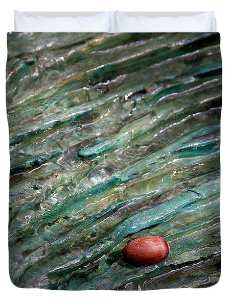 Duvet Cover featuring the photograph Acorn Fountain by Jerry Bunger