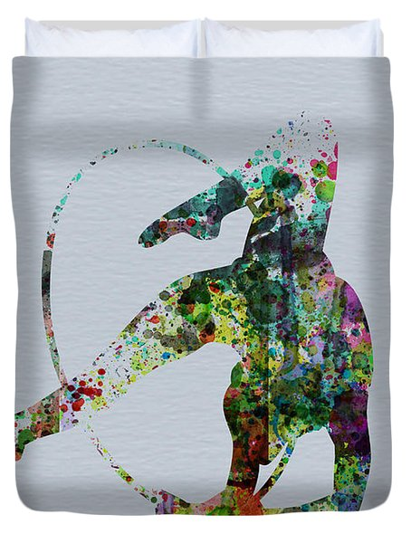 Acrobatic Dancer Duvet Cover