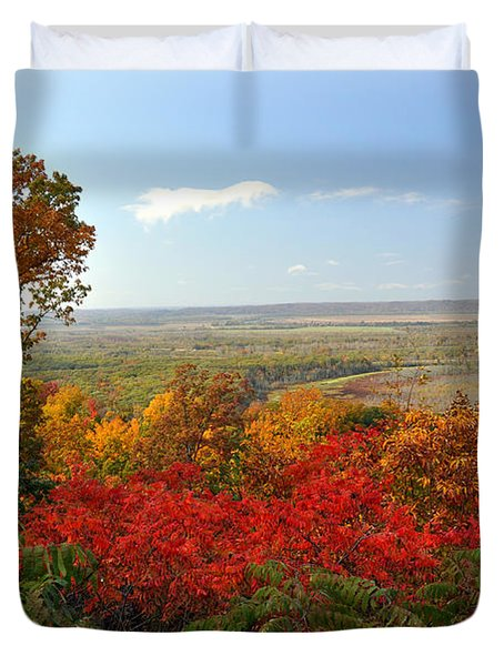 Across The Big Muddy Duvet Cover by Marty Koch