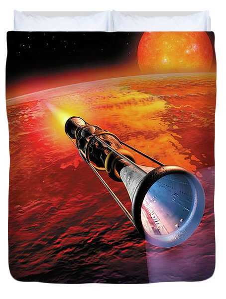 Across The Sea Of Suns Duvet Cover by Don Dixon