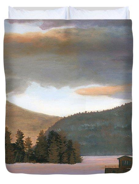 Adirondack Morning Duvet Cover by Lynne Reichhart