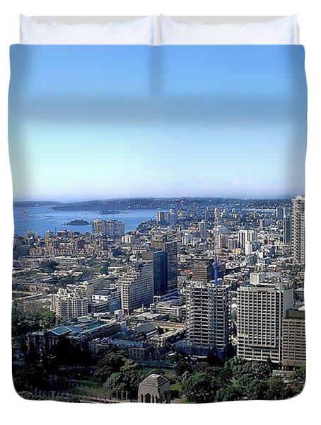 Aerial View - Sydney Harbour Duvet Cover