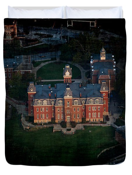 Aerial Woodburn Hall In Evening Duvet Cover by Dan Friend