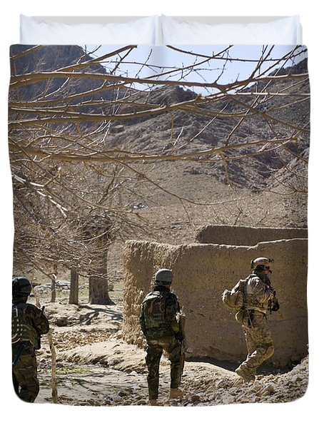 Afghan Commandos Are Guided Duvet Cover by Stocktrek Images