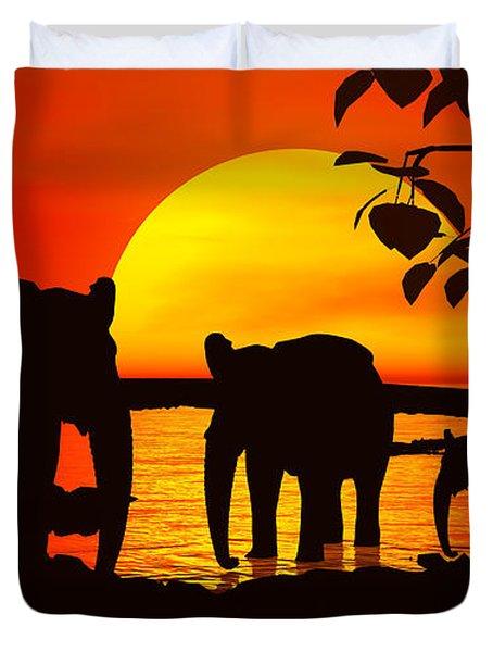 Africa Duvet Cover by Robert Orinski