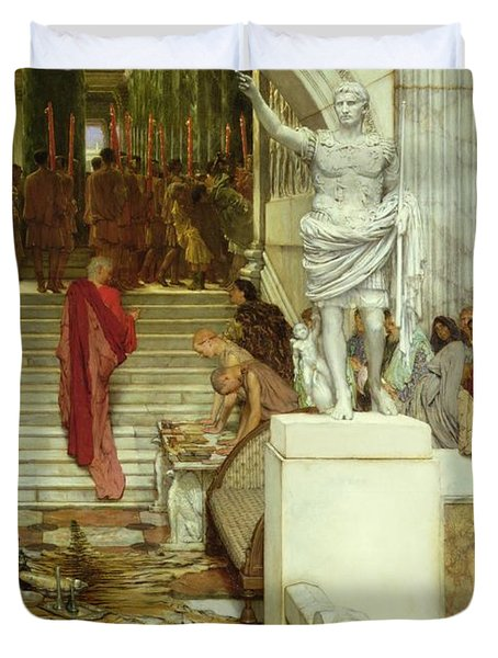 After The Audience Duvet Cover by Sir Lawrence Alma-Tadema