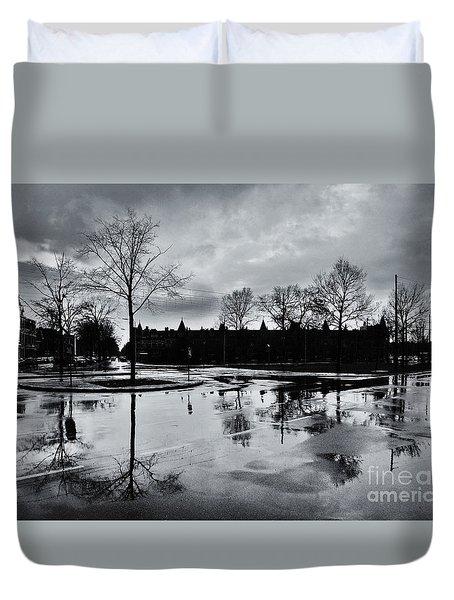Den Haag After The Rain Duvet Cover