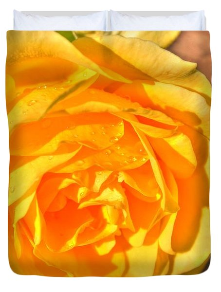 Duvet Cover featuring the photograph After The Rain by Michael Frank Jr