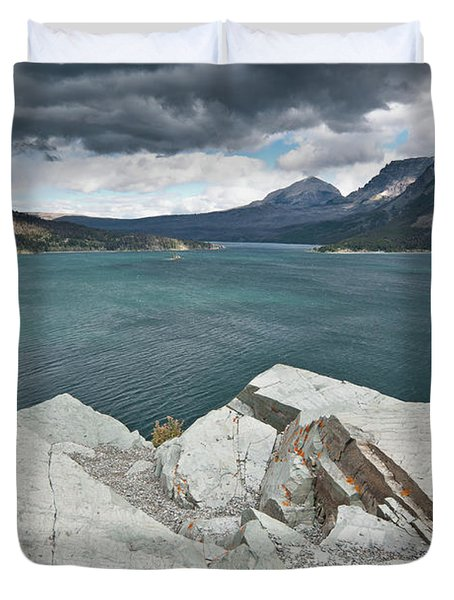 Afternoon At St. Mary Lake Duvet Cover