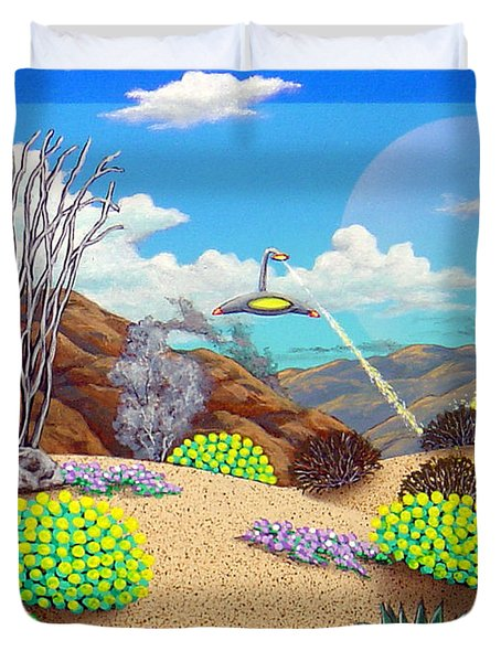 Afternoon Attack Duvet Cover by Snake Jagger
