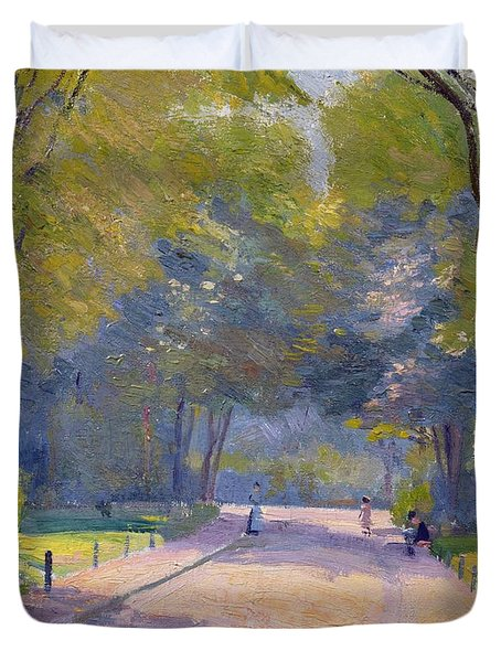 Afternoon In The Park Duvet Cover by Hippolyte Petitjean