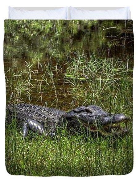 Aggressive Alligator Duvet Cover