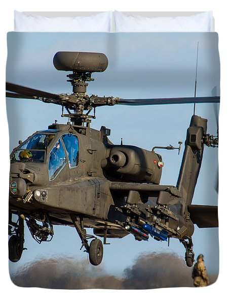 Ah64 Apache Duvet Cover by Ken Brannen