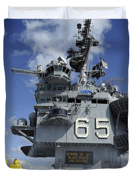 Air Department Sailors Test Duvet Cover by Stocktrek Images