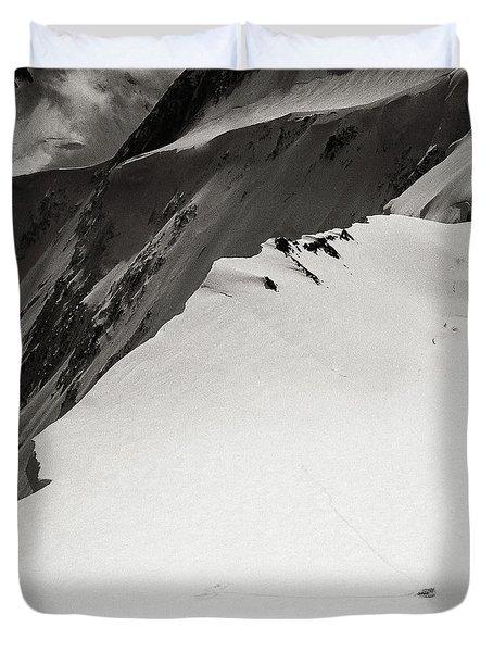Akkem Wall. Western Plateau Duvet Cover by Konstantin Dikovsky