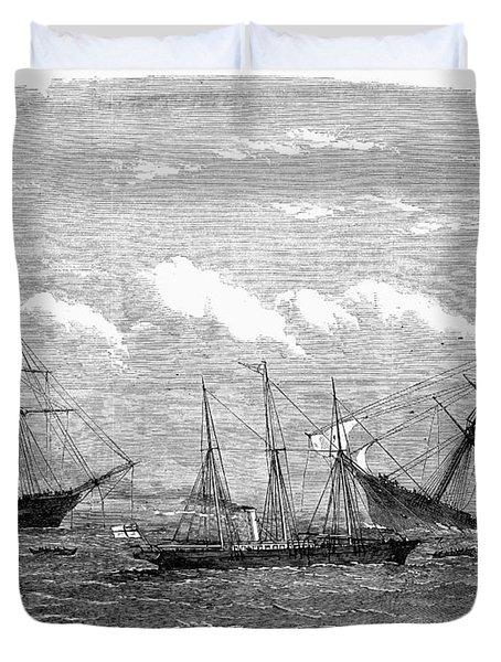 Alabama Vs Kearsarge, 1864 Duvet Cover