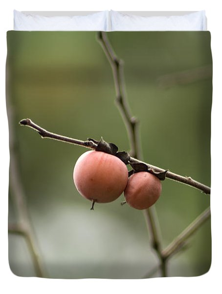 Alabama Wild Persimmons Duvet Cover