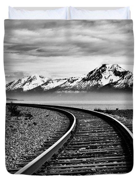 Alaska Railroad Duvet Cover