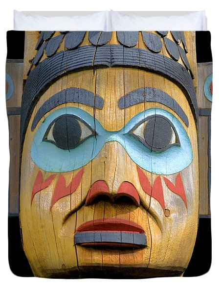 Alaska Totem Duvet Cover by Mark Greenberg