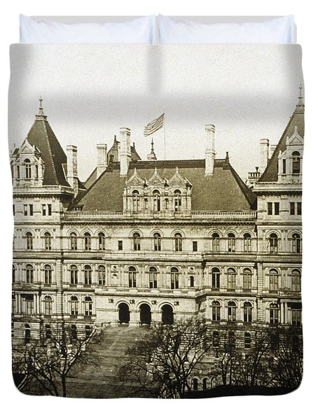 Albany New York - State Capitol Building - C 1900 Duvet Cover by International  Images