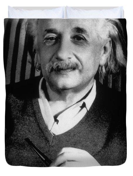 Albert Einstein, German-american Duvet Cover by Science Source