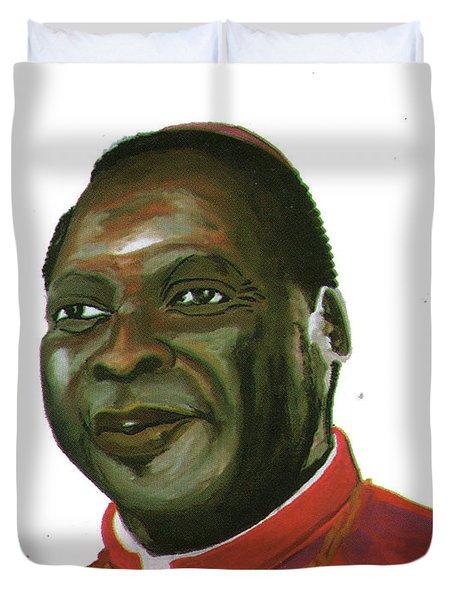Albert Ndongmo Duvet Cover by Emmanuel Baliyanga