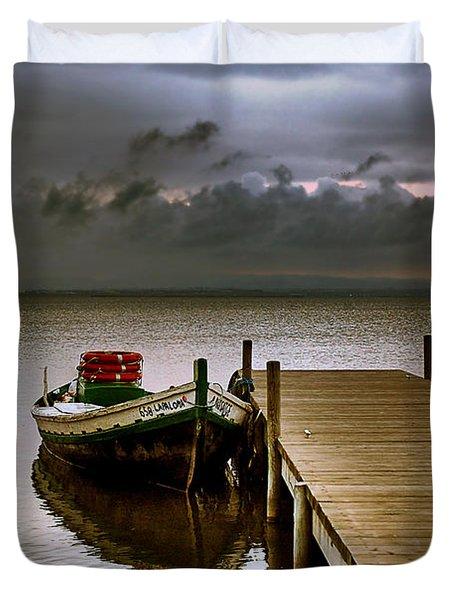 Albufera Before The Rain. Valencia. Spain Duvet Cover