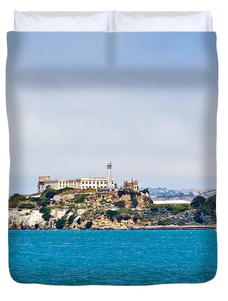 Alcatraz - San Francisco Duvet Cover
