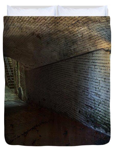 Alcatraz 1866 Tunnel Duvet Cover by Daniel Hagerman