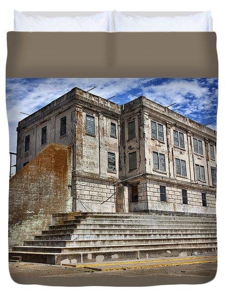 Alcatraz Cellhouse  Duvet Cover by Garry Gay