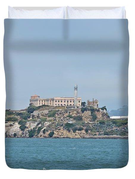 Alcatraz Island Duvet Cover by Cassie Marie Photography