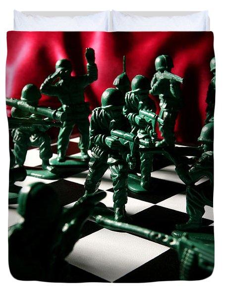 Alekhine's Gun Duvet Cover by Lon Casler Bixby