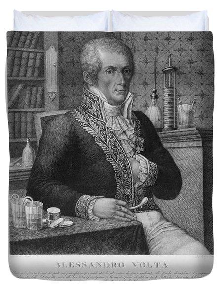 Alessandro Volta, Italian Physicist Duvet Cover by Omikron