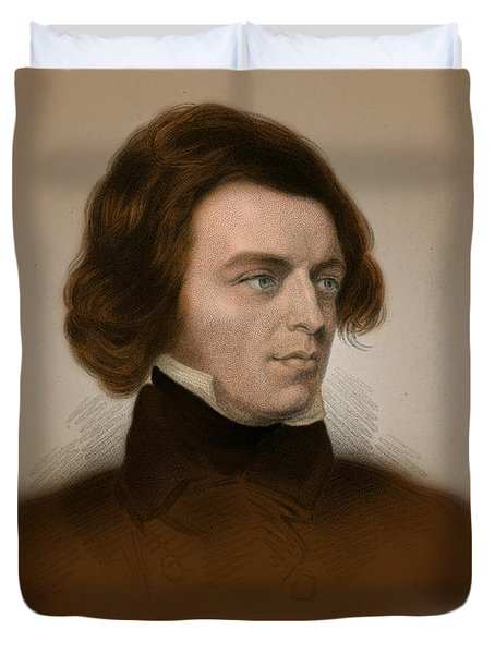 Alfred, Lord Tennyson, English Poet Duvet Cover by Science Source