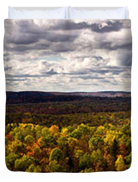 Algonquin Park Panorama Duvet Cover