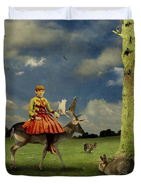 Alice Duvet Cover by Martine Roch