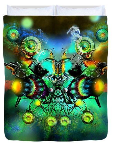 Alien Fighter Duvet Cover by Adam Vance