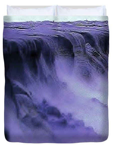 Duvet Cover featuring the photograph Alien Landscape The Aftermath by Blair Stuart