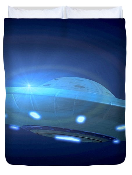 Alien Spacecraft Duvet Cover by Gregory MacNicol and Photo Researchers